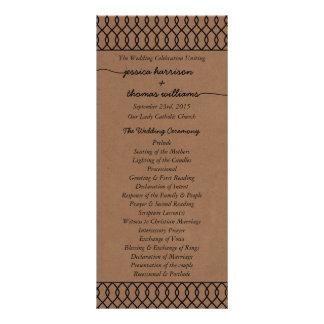 The Modern Whimsical Kraft Wedding Collection Customised Rack Card