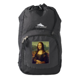 The Mona Lisa By Leonardo Da Vinci Backpack