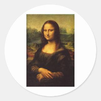 The Mona Lisa by Leonardo Da Vinci c. 1503-1505 Classic Round Sticker