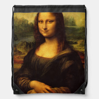 The Mona Lisa Drawstring Bag