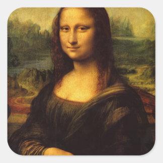 The Mona Lisa Square Sticker