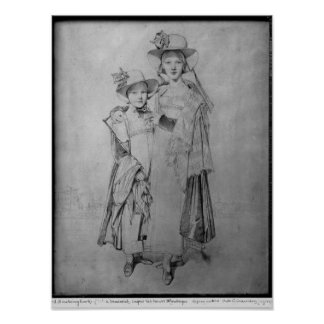 The Montagu Sisters in Rome, 1815 Posters