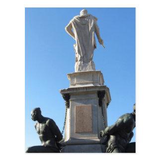 The monument Quattro Mori ( of the Four Moors ) Postcard