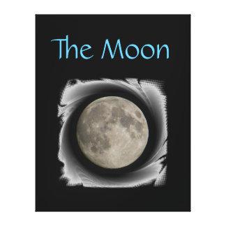 The moon, la lune, la luna, the moon canvas gallery wrapped canvas