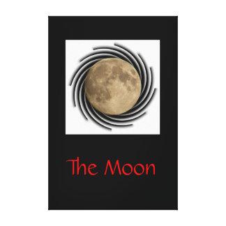 The moon, la lune, la luna, the moon canvas gallery wrap canvas