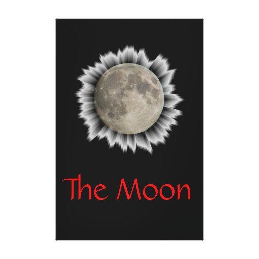 The moon, la lune, la luna, the moon canvas stretched canvas print