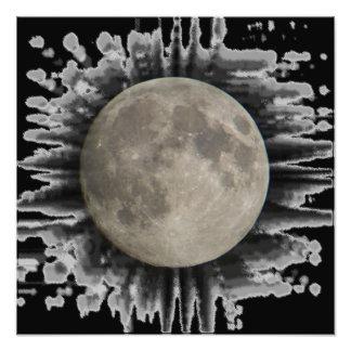 The moon, la lune, la luna, the moon poster photo