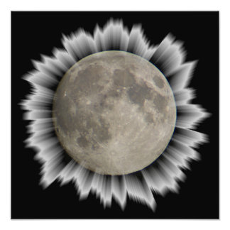 The moon, la lune, la luna, the moon poster photo print