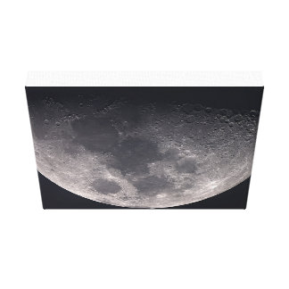 The Moon on Canvas Stretched Canvas Prints