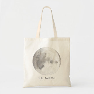 The Moon Planet Watercolor Tote