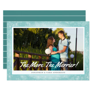 The More The Merrier Horizontal Photo Christmas Card