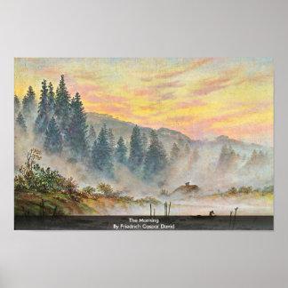 The Morning By Friedrich Caspar David Poster