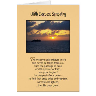 The most valuable things...Sympathy Cards