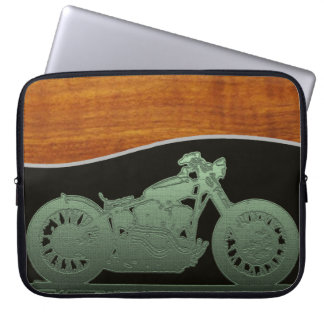 The motorcycle man laptop sleeve