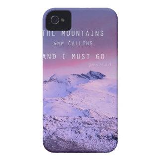 The mountains plows calling, and i must go. John M iPhone 4 Case-Mate Case
