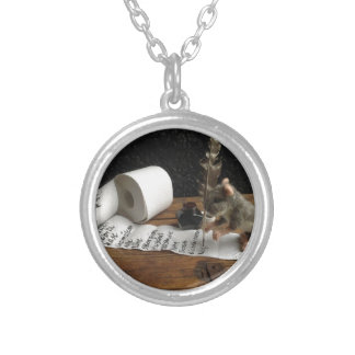 """The Mouse and ago """"tons of DO cunning """" Round Pendant Necklace"""