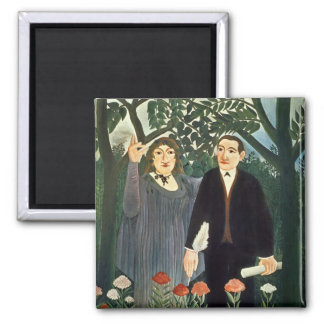 The Muse Inspiring the Poet, 1909 Refrigerator Magnet