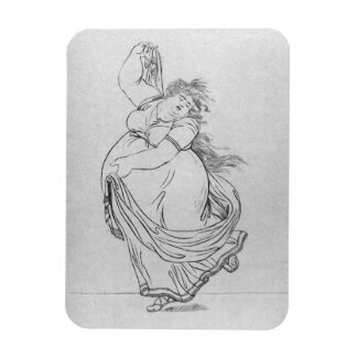 The Muse of Dance, Plate VI from a new edition con Rectangular Photo Magnet