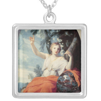 The Muse Urania, 1646-47 Silver Plated Necklace