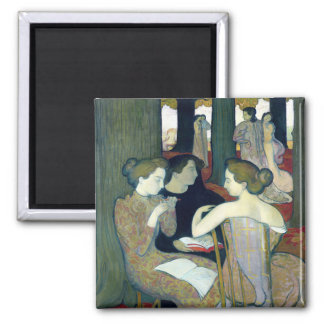 The Muses, 1893 Square Magnet