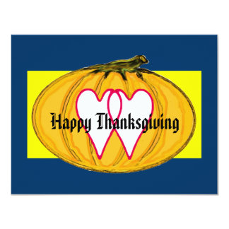 The MUSEUM Artist Series Happy Thanksgiving 2a yw 4.25x5.5 Paper Invitation Card