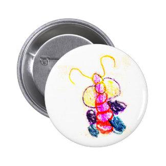 THe MUSEUM Artist Series Kaitlyn's Caterpillar Button