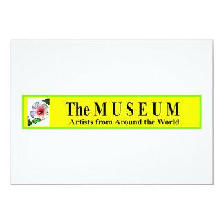 The MUSEUM Custom Invitation