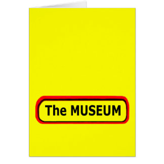 The MUSEUM Logo The MUSEUM Zazzle Card