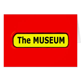 The MUSEUM Logo The MUSEUM Zazzle Greeting Cards