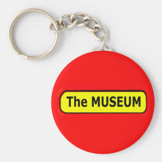 The MUSEUM Logo The MUSEUM Zazzle Keychains