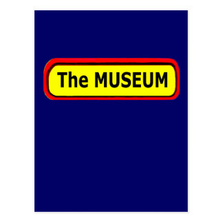 The MUSEUM Logo The MUSEUM Zazzle Post Card
