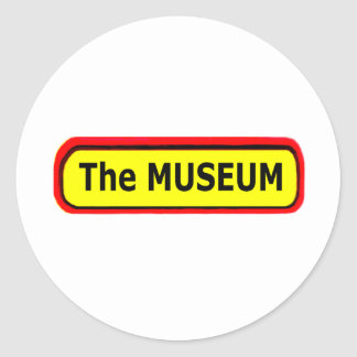 The MUSEUM Logo The MUSEUM Zazzle Round Sticker