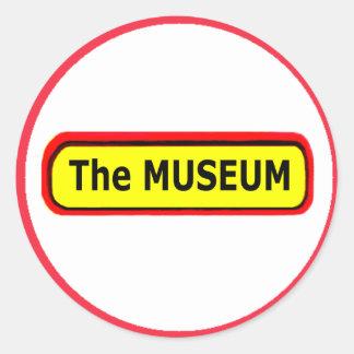The MUSEUM Logo The MUSEUM Zazzle Round Sticker