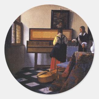 The Music Lesson Classic Round Sticker