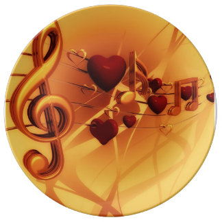 The Music of Love: Custom Porcelain Plate