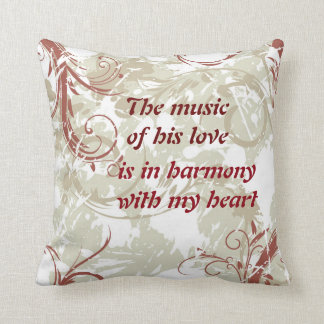 The Music of the Heart Decorative Pillow Throw Cushion