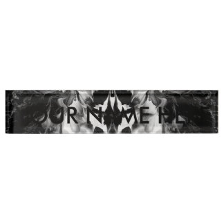 THE MYSTIC WAY (black & white art) ~ ~ ~ ~ Name Plate