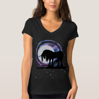 The Mystical Black Unicorn (Purple/Blue Blur) T-Shirt