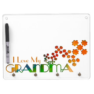 The Name Game - Grandma Dry Erase Board With Key Ring Holder