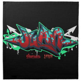 The name Juan in graffiti Napkin