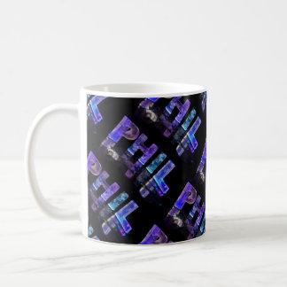 The Name Phil -  Name in Lights (Photograph) Coffee Mug