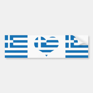 The National flag of Greece Bumper Sticker