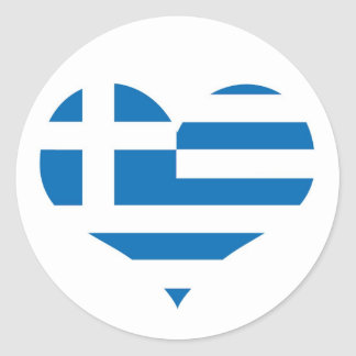 The National flag of Greece Classic Round Sticker