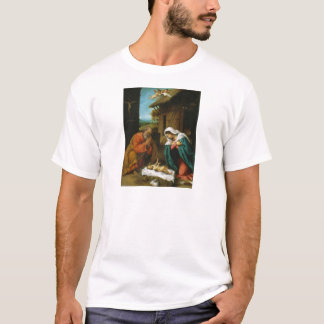 The Nativity Christi Geburt by Lorenzo Lotto T-Shirt