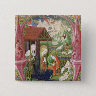 The Nativity, Northern Italian School 15 Cm Square Badge