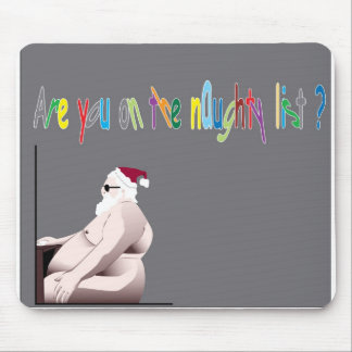 the naughty list mouse pad