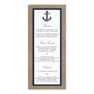 The Navy Anchor On Burlap Beach Wedding Collection Custom Rack Card