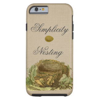 The nest and egg vintage-style tough iPhone 6 case