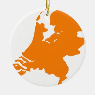 The Netherlands Round Ceramic Decoration