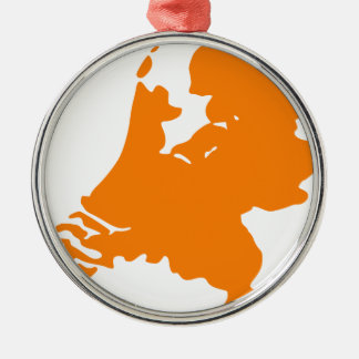 The Netherlands Silver-Colored Round Decoration